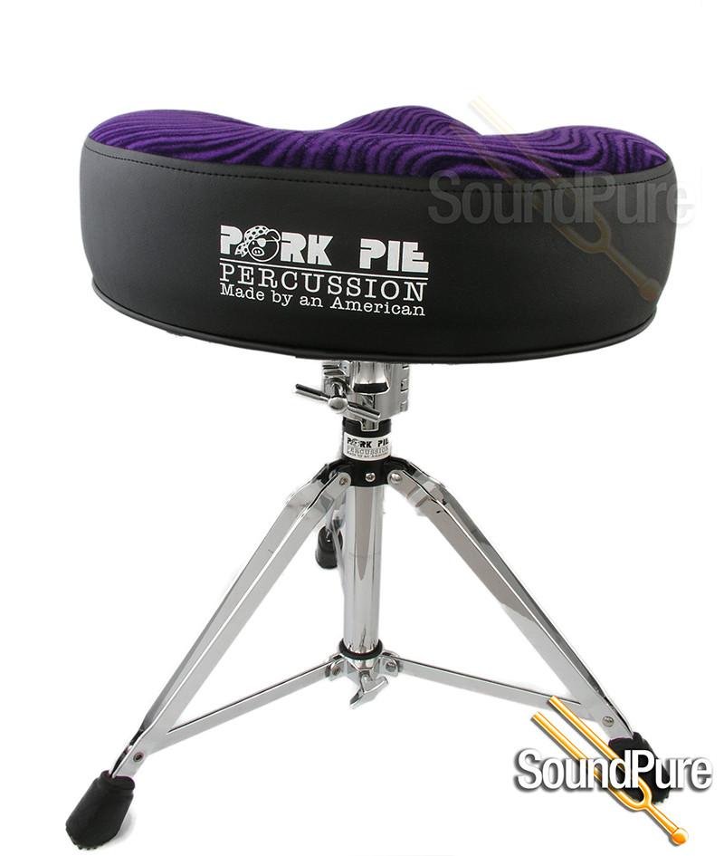 Pork Pie Drum Throne  Pork Pie Big Boy Motorcycle Drum Throne Black Purple Swirl