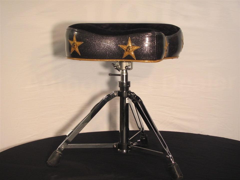 Pork Pie Drum Throne  Pork Pie Big Boy Hydraulic Drum Throne Black Glitter with