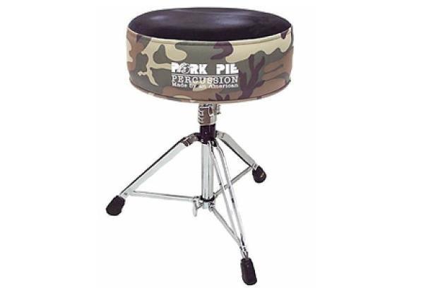 Pork Pie Drum Throne  Pork Pie Percussion Round Drum Throne Camo Black