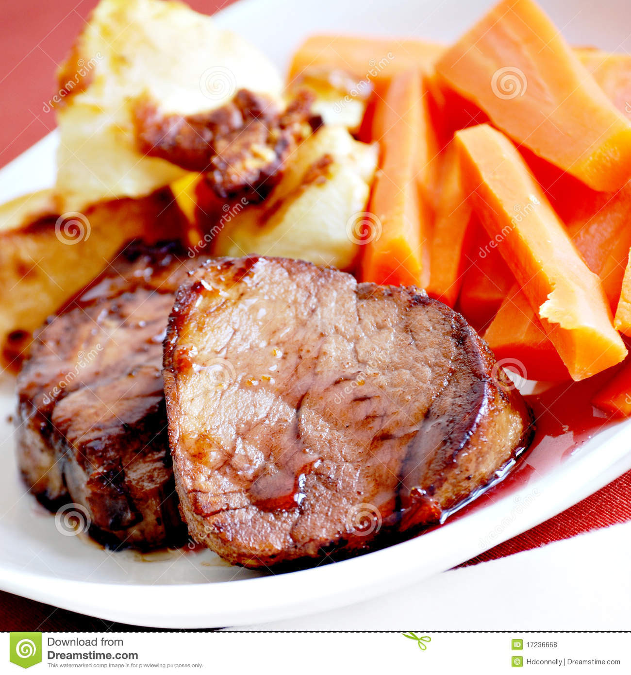 Pork Tenderloin Dinner  Pork Tenderloin Dinner Royalty Free Stock s Image