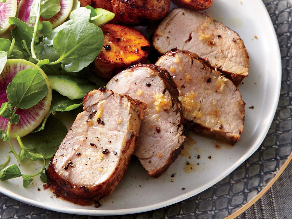 Pork Tenderloin Recipe  Ginger Honey Glazed Pork Tenderloin Recipe Cooking Light