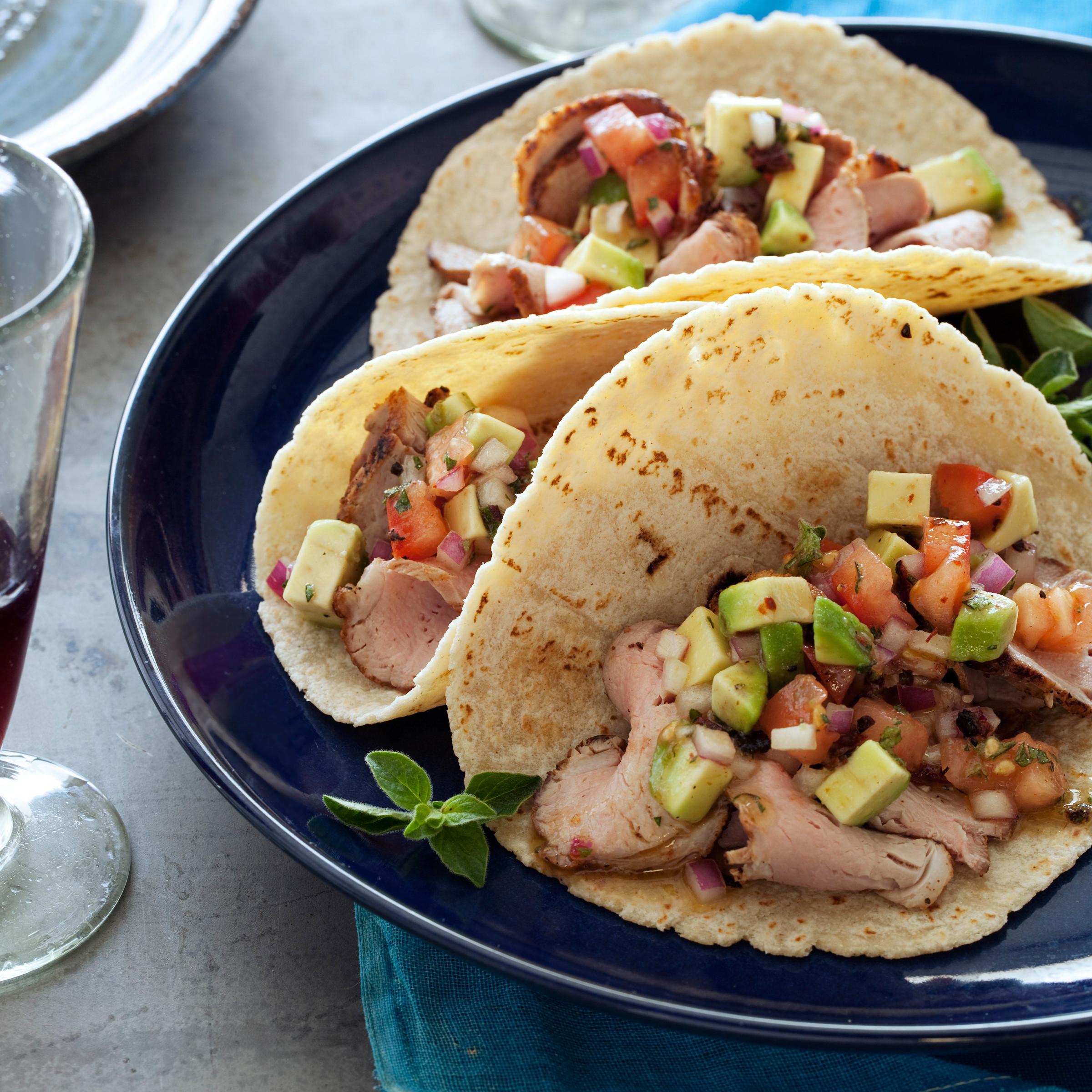 Pork Tenderloin Tacos  Pork Tenderloin Tacos with Avocado Salsa Recipe Melissa