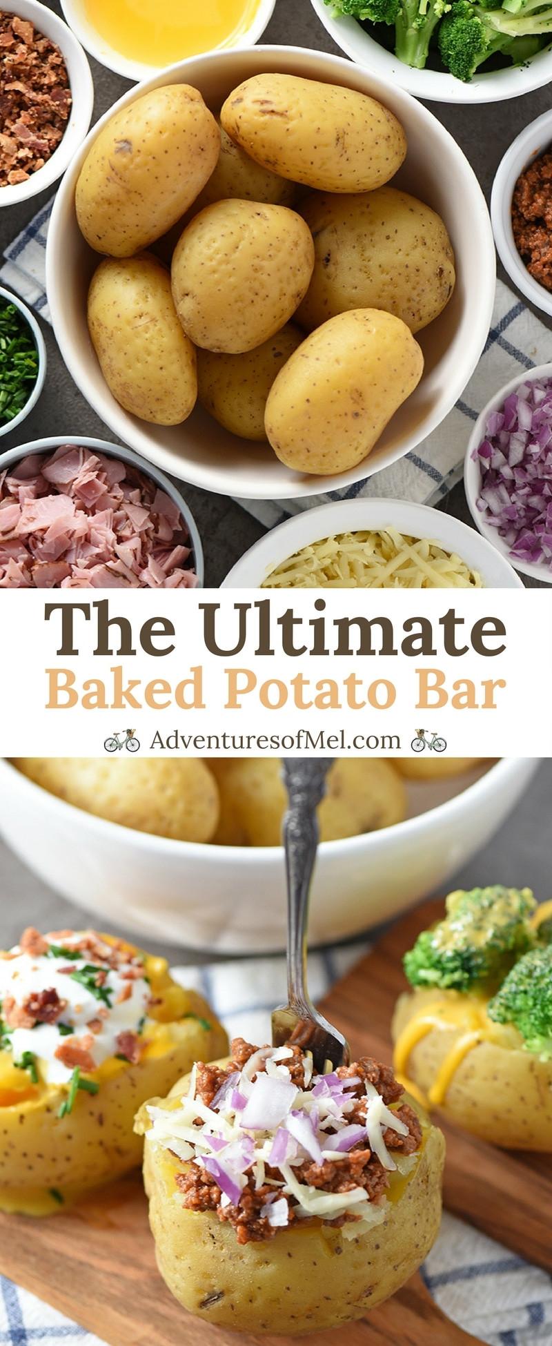 Potato Bar Toppings  The Ultimate Baked Potato Bar Adventures of Mel