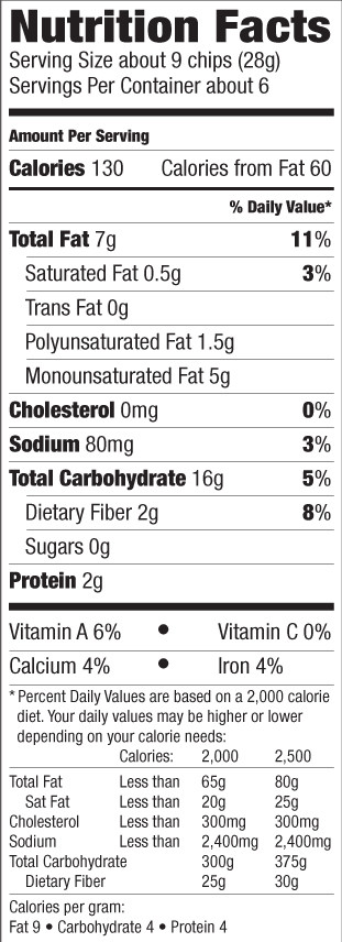 Potato Nutrition Data  Health Food Specialists Brands Products Way Better Snacks