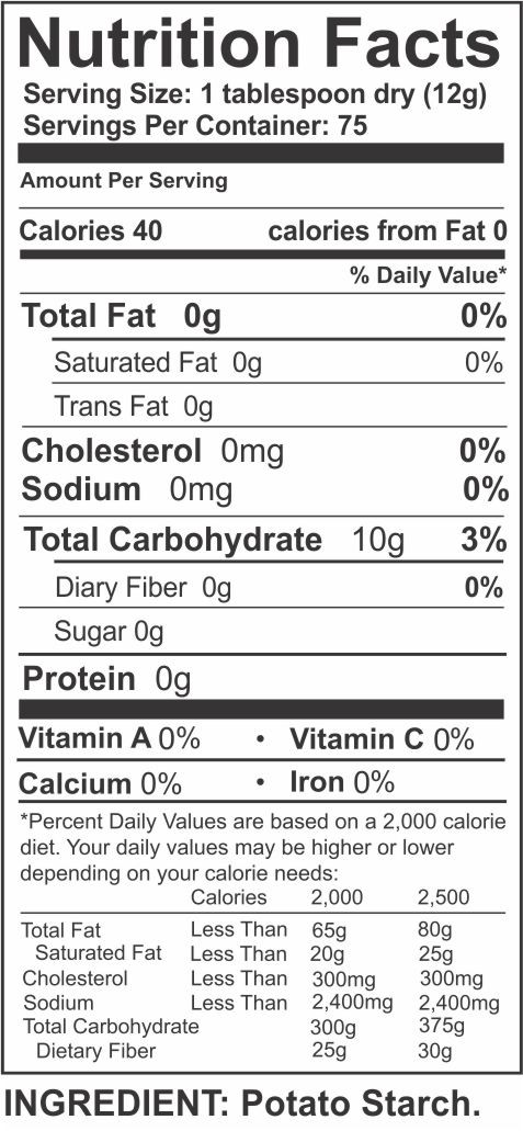 Potato Nutrition Data  potato nutrition