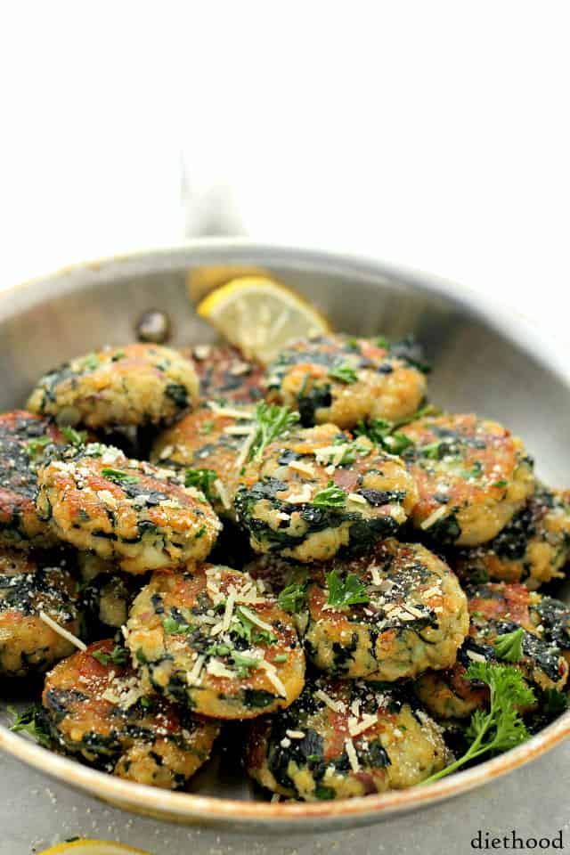 Potato Pattie Recipes  Spinach and Garlic Potato Patties Recipe
