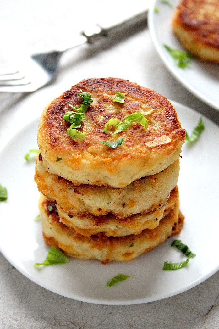 Potato Pattie Recipes  Leftover Mashed Potato Cheddar Ranch Cakes Recipe Card