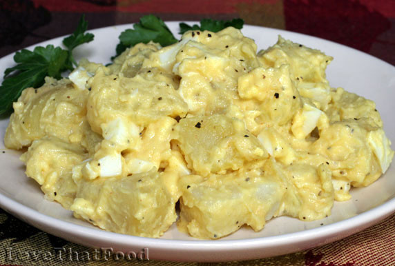 Potato Salad With Eggs  Mustard Potato Salad with Egg Recipe with Picture