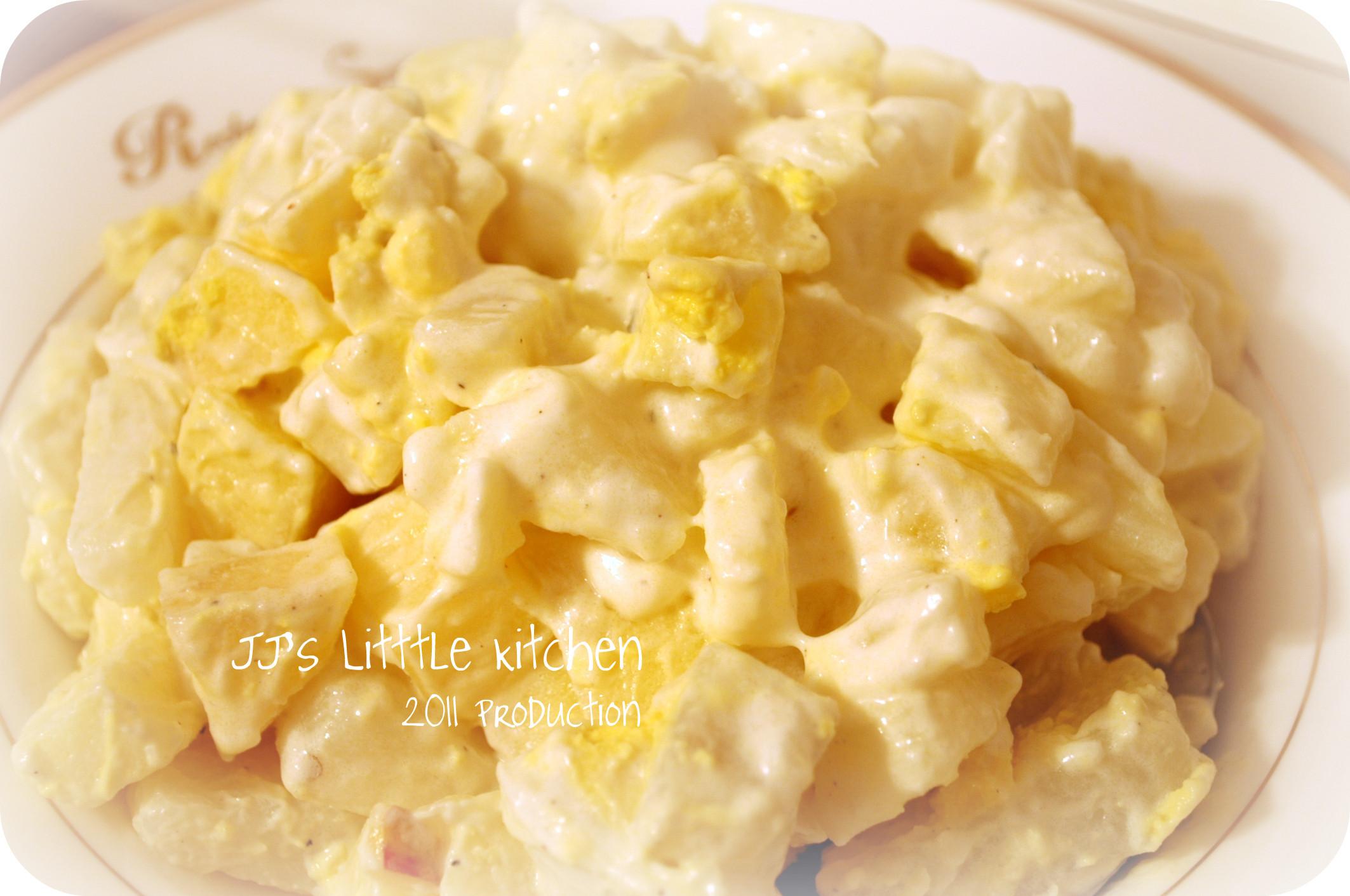 Potato Salad With Eggs  Egg and Potato Salad with Apple