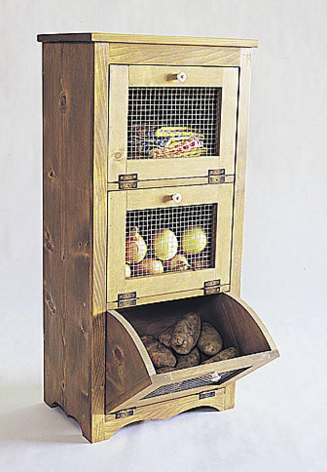 Potato Storage Bin  Project of the Week Storage bin is a kitchen necessity