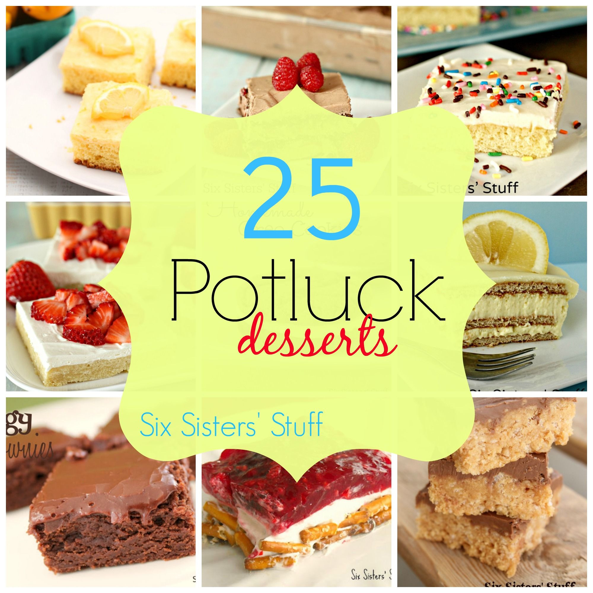 "Potluck Dessert Ideas  25 Potluck Desserts Perfect for the ""Big Game "" Food and"