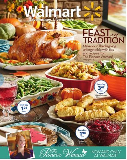 Pre Cooked Thanksgiving Dinner Walmart  Walmart Thanksgiving Ad Nov 13th – Nov 26th