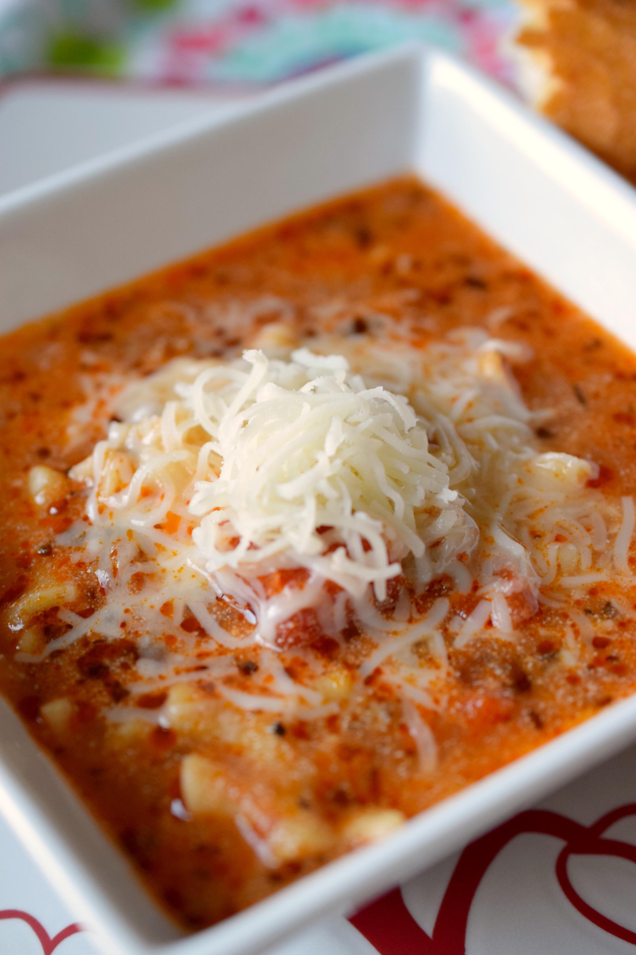 Pressure Cooker Lasagna  Pressure Cooker Lasagna Soup Who Needs A Cape