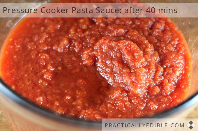 Pressure Cooker Tomato Sauce  tomato paste