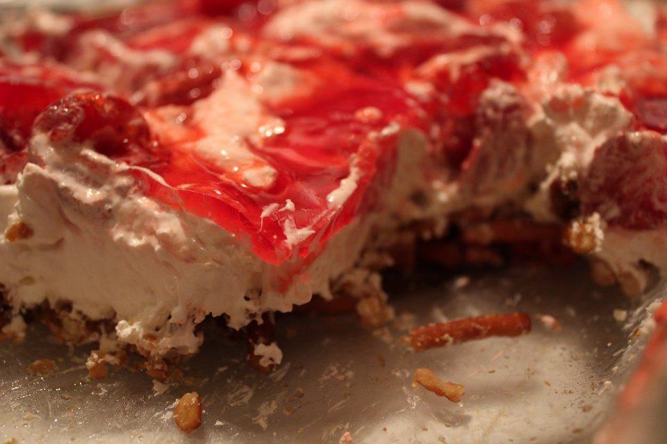 Pretzel Crust Desserts  Creamy Strawberry Pretzel Crust Dessert Recipe