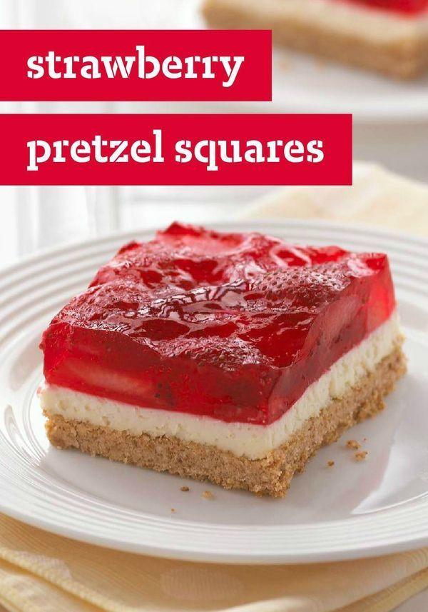 Pretzel Crust Desserts  Strawberry Pretzel Squares This classic summer dessert