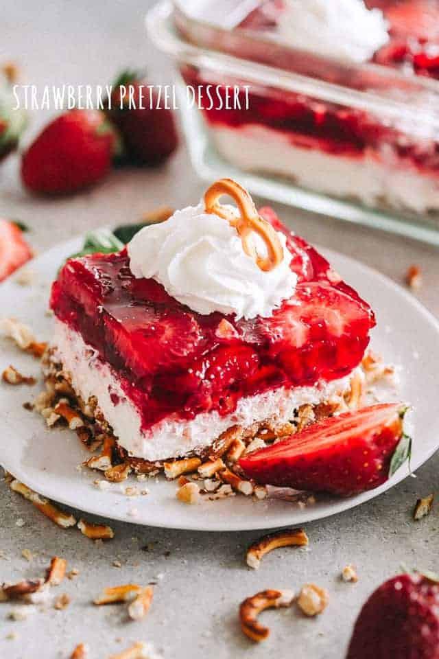 Pretzel Crust Desserts  Strawberry Pretzel Dessert Recipe Potluck & Backyard