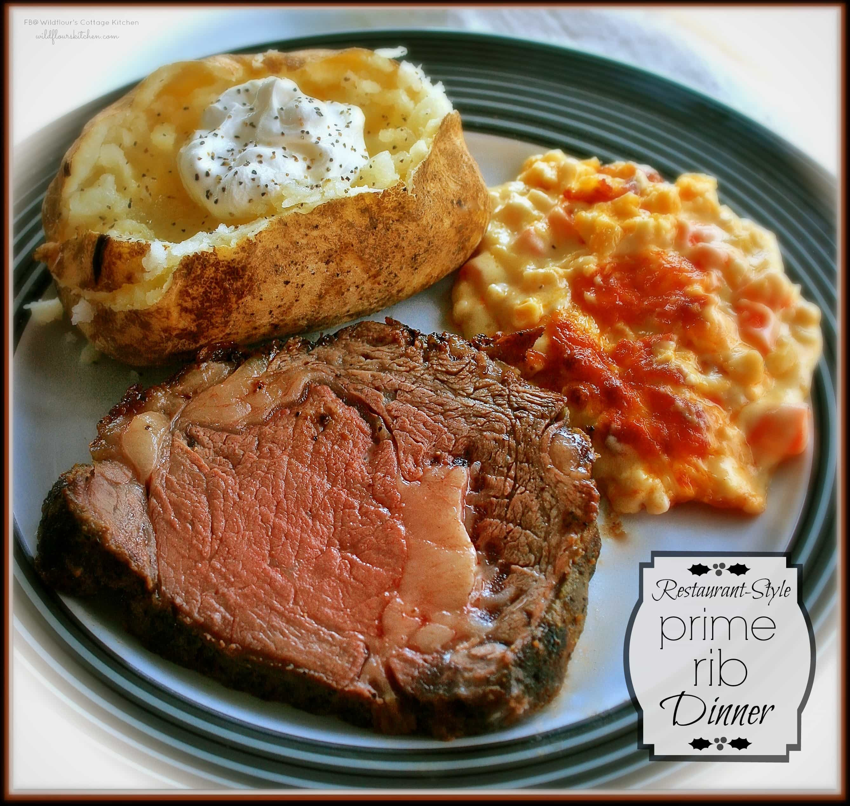 Prime Rib Dinner  Restaurant style prime rib recipe