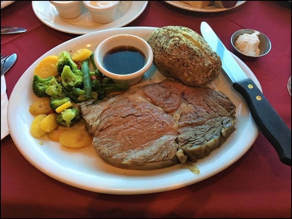 Prime Rib Dinner  Laughlin Buzz Dinner at Big Horn Café in the Laughlin