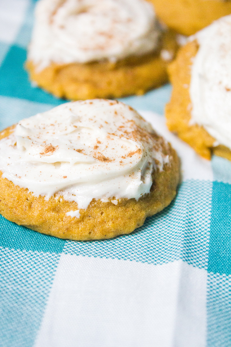 Pumpkin Cookies With Cream Cheese Frosting  Pumpkin Cookies with Cream Cheese Frosting