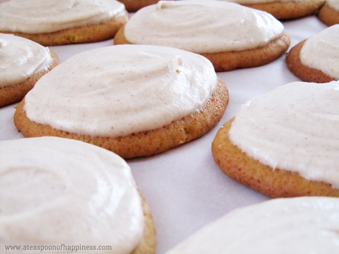Pumpkin Cookies With Cream Cheese Frosting  Best Ever Pumpkin Cookies with Cinnamon Cream Cheese
