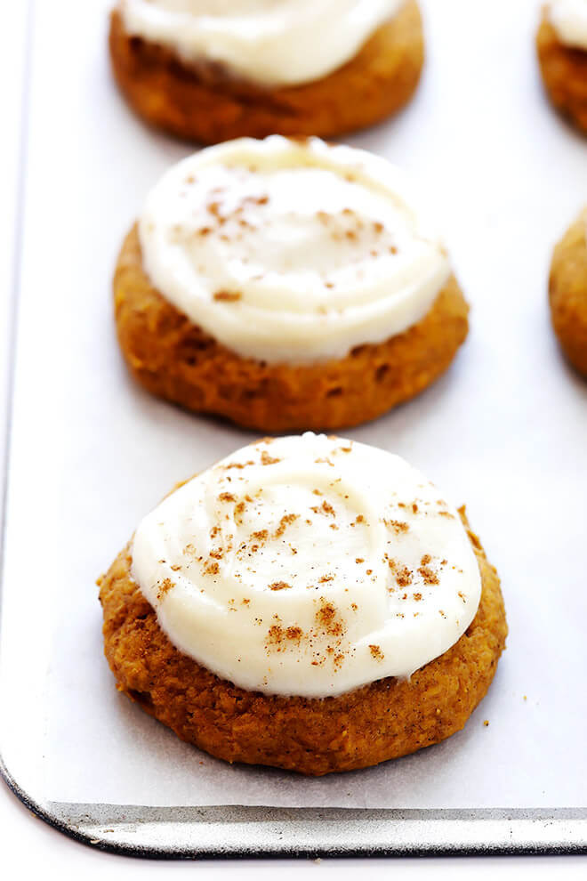 Pumpkin Cookies With Cream Cheese Frosting  Pumpkin Cookies with Cream Cheese Frosting TheDirtyGyro