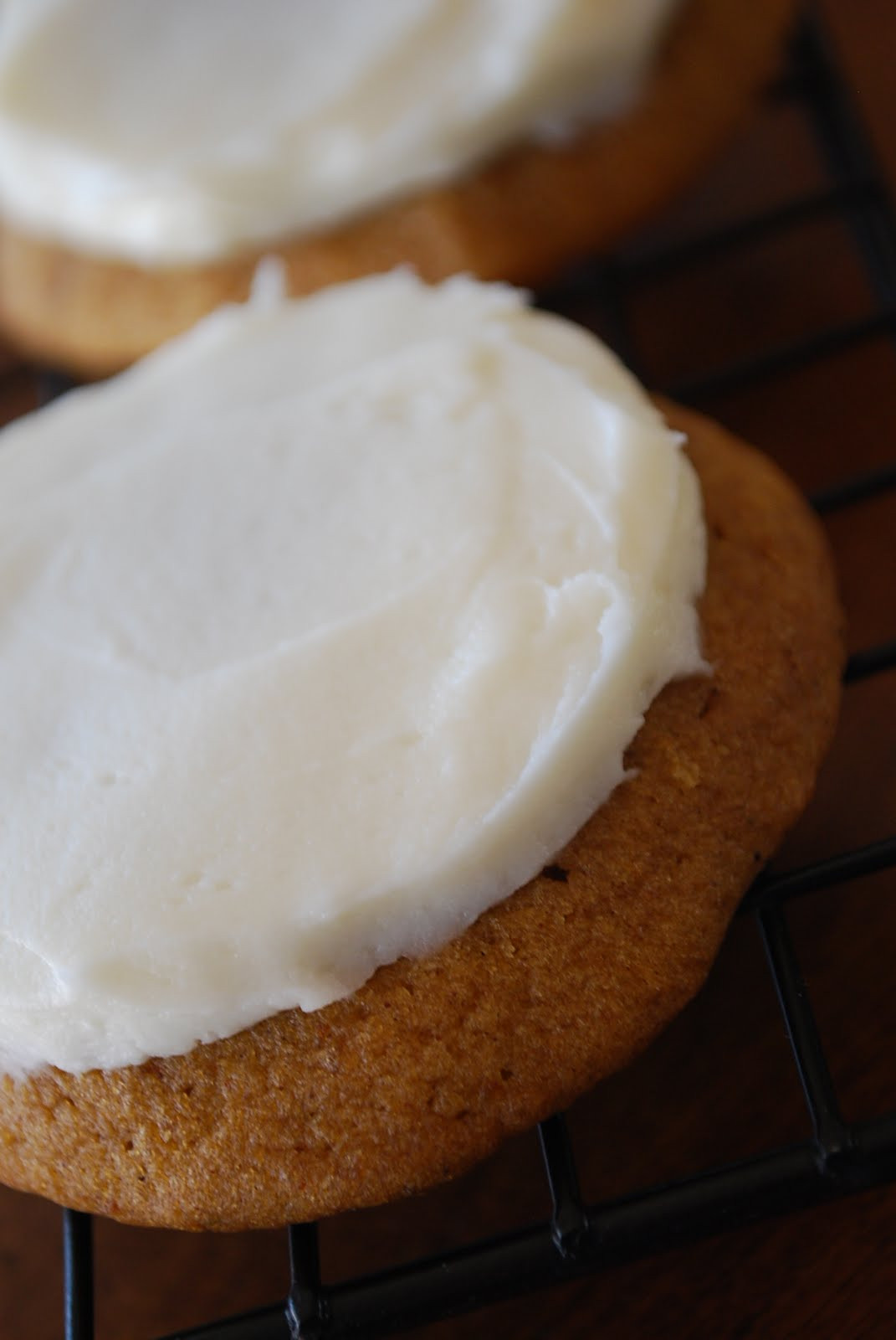 Pumpkin Cookies With Cream Cheese Frosting  Moist Pumpkin Cookies With Cream Cheese Frosting