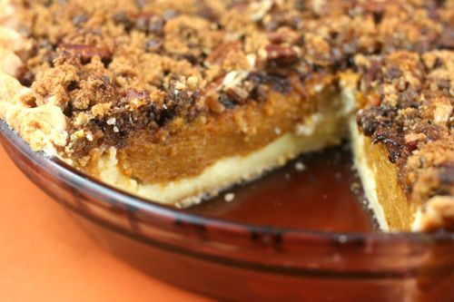 Pumpkin Cream Cheese Pie  Pumpkin & Cream Cheese Layer Pie With Chopped Pecan
