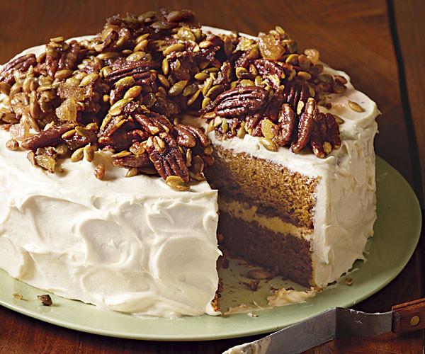 Pumpkin Layer Cake  Brown Butter Pumpkin Layer Cake Recipe FineCooking