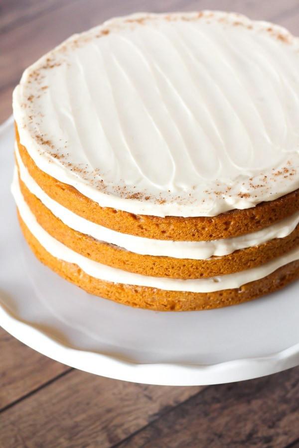 Pumpkin Layer Cake  gluten free vegan pumpkin layer cake with cream cheese
