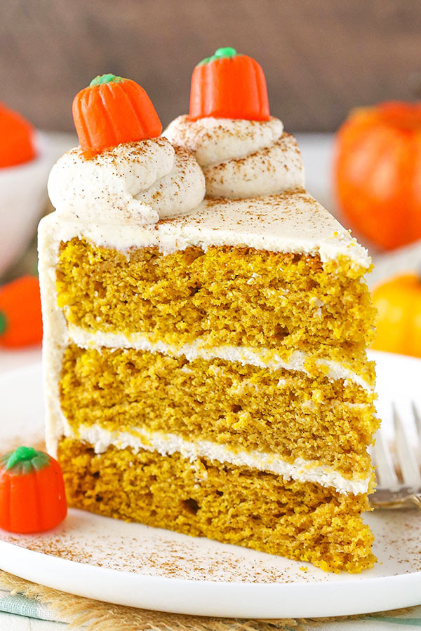 Pumpkin Layer Cake  Pumpkin Layer Cake with Whipped Cream Cheese Frosting