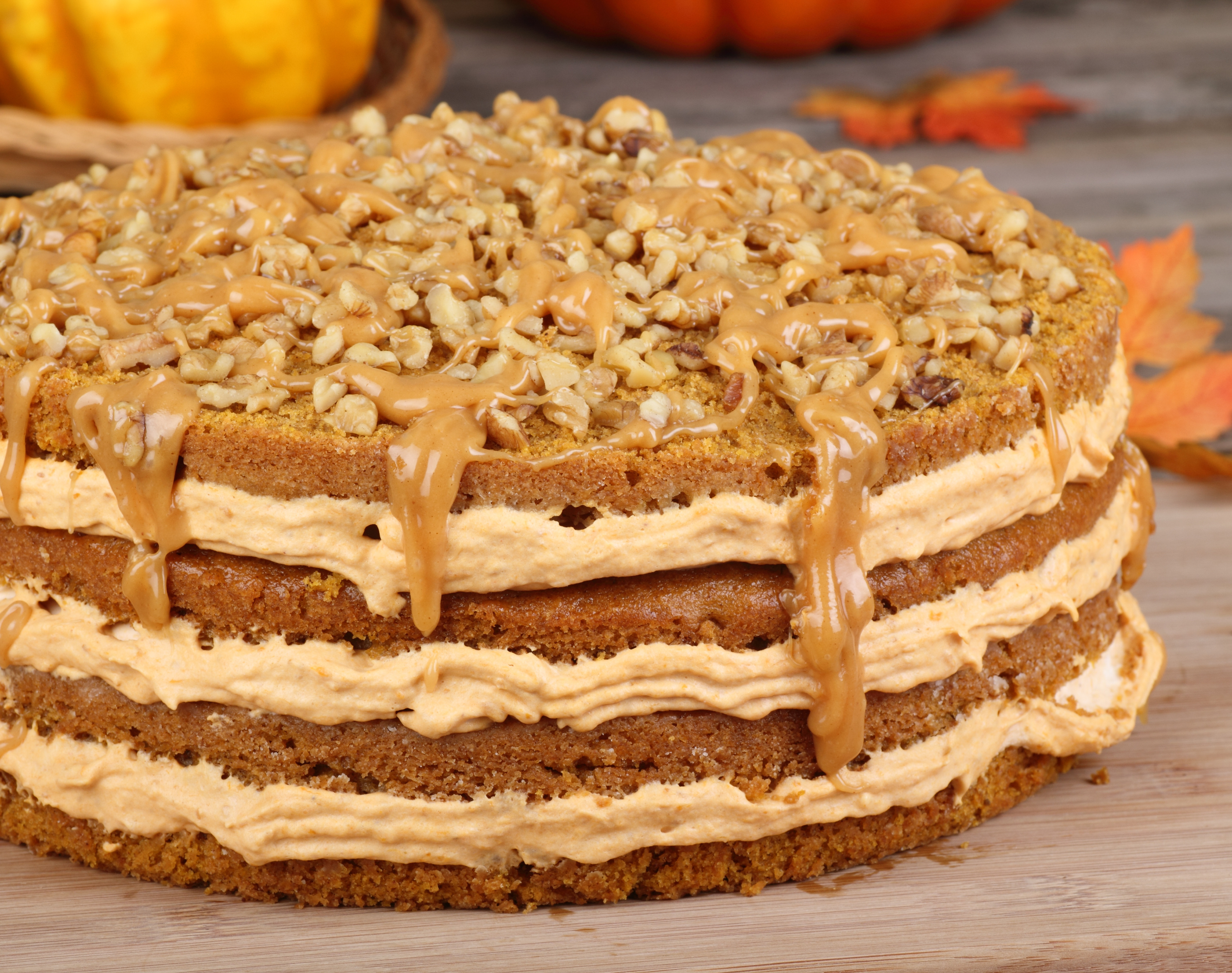 Pumpkin Layer Cake  Oregonian Thanksgiving Spiced Layer Cake with Pumpkin