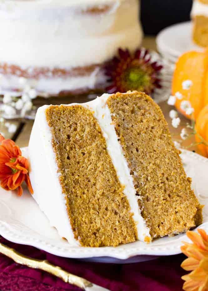 Pumpkin Layer Cake  Pumpkin Cake with Cream Cheese Frosting