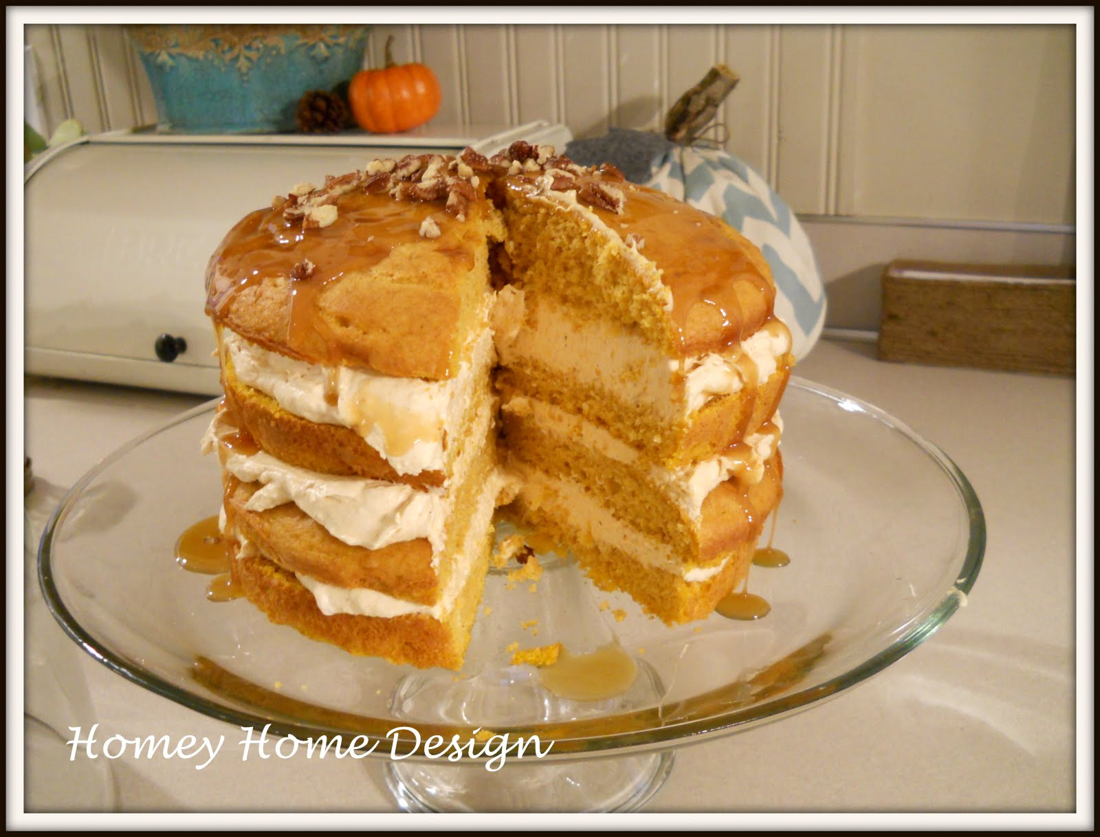 Pumpkin Layer Cake  homey home design Pumpkin Layer Cake