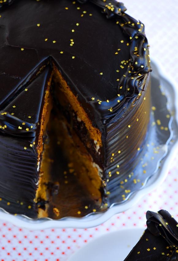 Pumpkin Layer Cake  Midnight Pumpkin Layer Cake