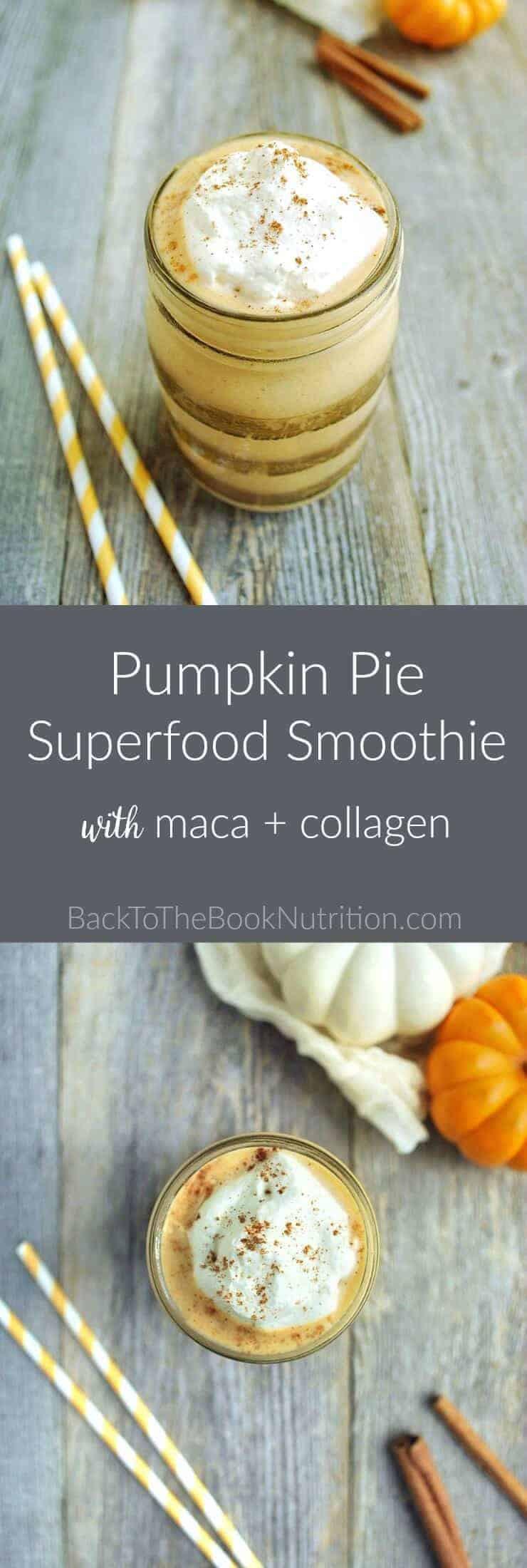 Pumpkin Pie Nutrition  Pumpkin Pie Superfood Smoothie