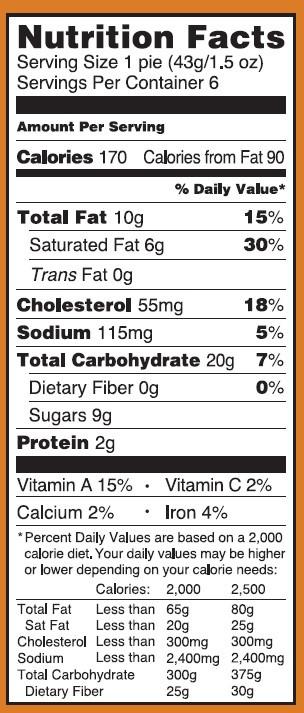 Pumpkin Pie Nutrition  trader joe s pumpkin pie calories