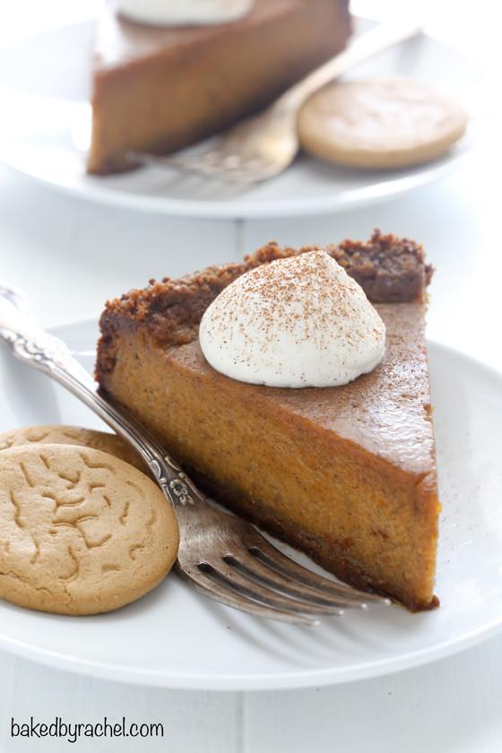 Pumpkin Pie With Gingersnap Crust  Deep Dish Pumpkin Pie