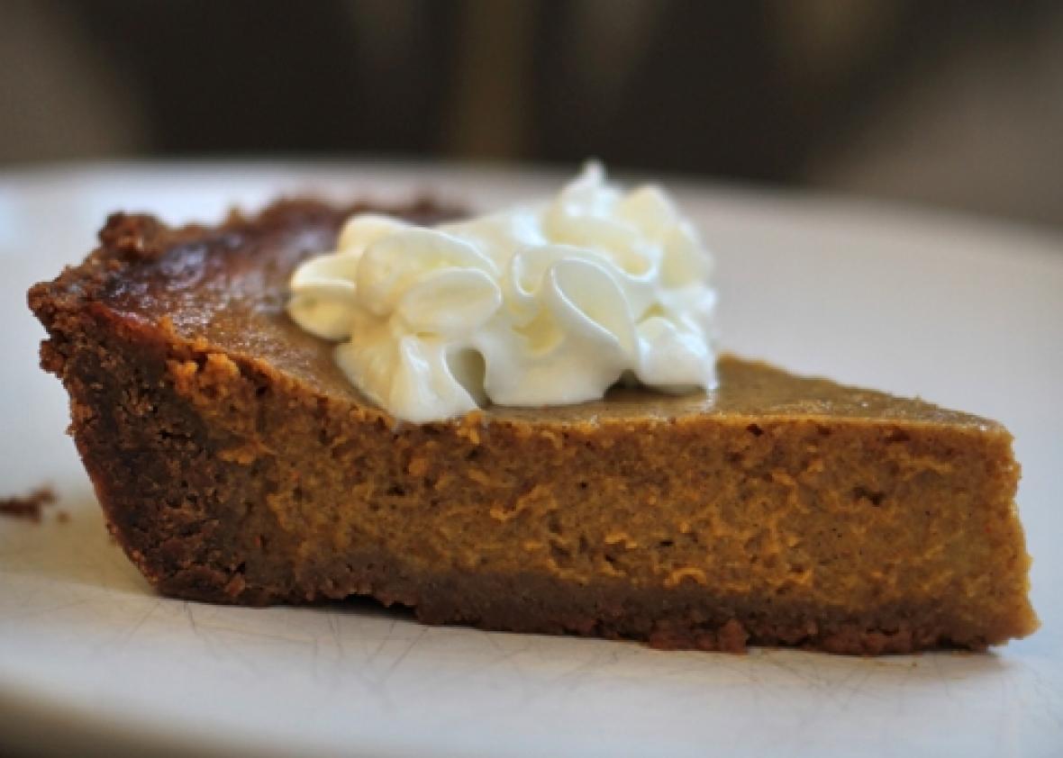 Pumpkin Pie With Gingersnap Crust  Pumpkin pie with gingersnap crust A vast improvement over