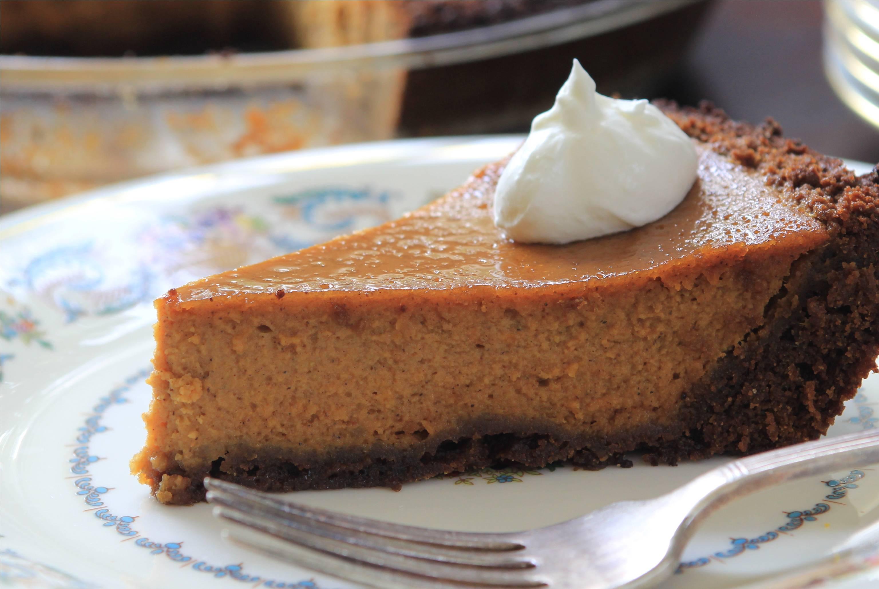 Pumpkin Pie With Gingersnap Crust  Bourbon Pumpkin Pie with Gingersnap Crust Farberware