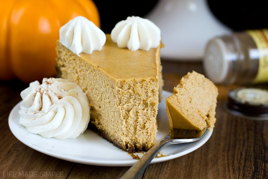 Pumpkin Pie With Gingersnap Crust  Pumpkin Pie Cheesecake with Gingersnap Crust Life Made