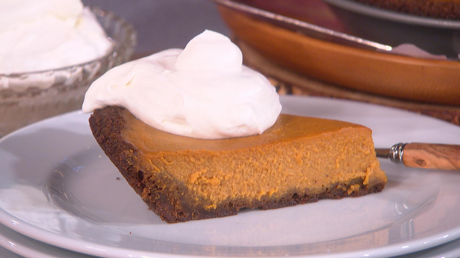 Pumpkin Pie With Gingersnap Crust  Talk Food Festival Ali Larter The Talk CBS