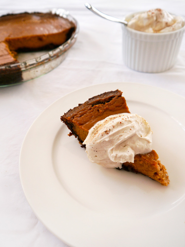 Pumpkin Pie With Gingersnap Crust  Gingersnap Pumpkin Pie