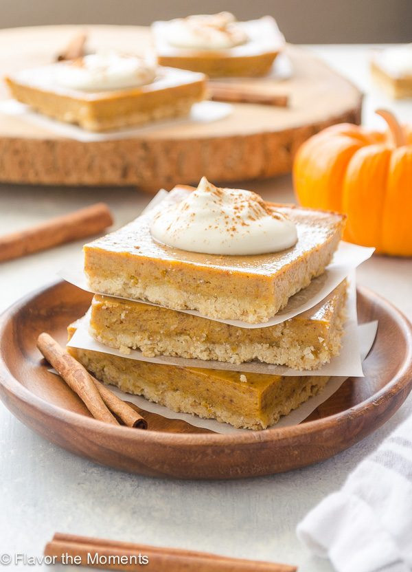 Quick And Easy Pumpkin Desserts  Easy Pumpkin Pie Bars with Oat Crust Flavor the Moments