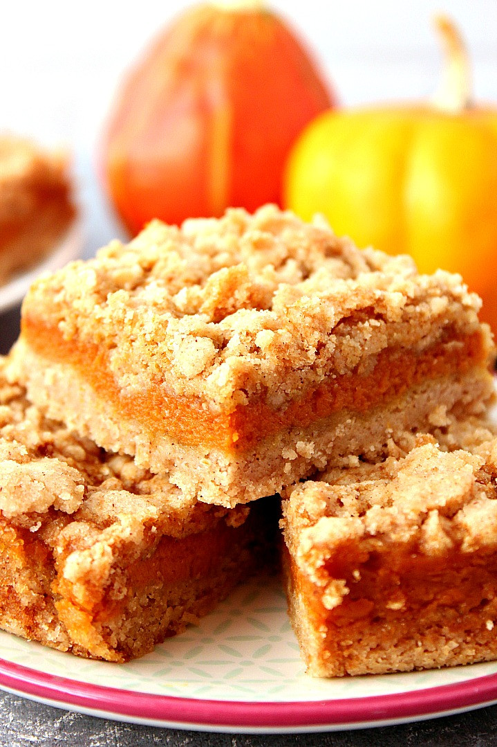 Quick And Easy Pumpkin Desserts  Pumpkin Pie Bars Recipe Crunchy Creamy Sweet