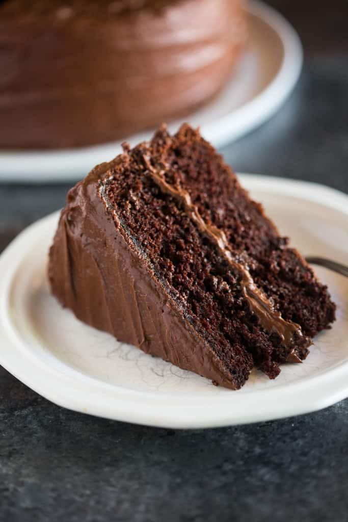 "Quick Chocolate Cake  Hershey's ""perfectly chocolate"" Chocolate Cake Tastes"