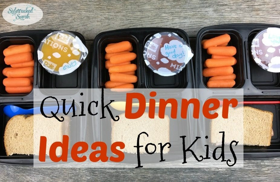 Quick Dinner Ideas For Kids  Quick Dinner Ideas for Kids