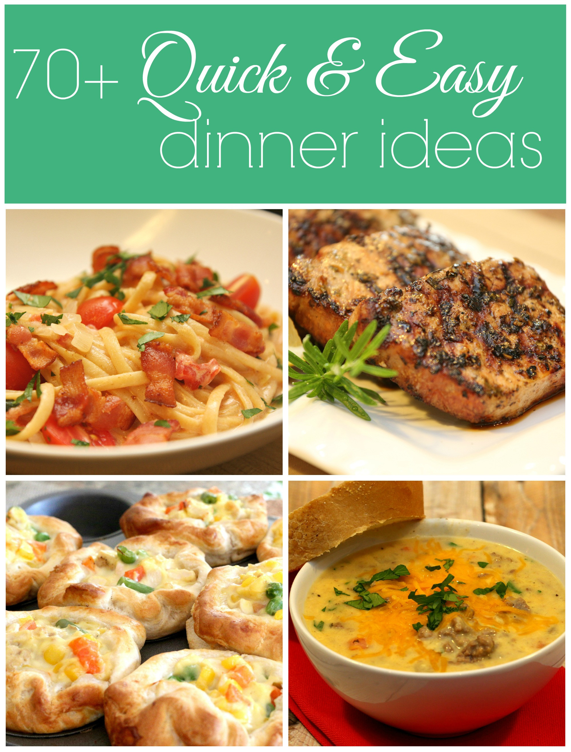 Quick Dinner Ideas  100 Dinner Recipes Quick Easy Meals It Is a Keeper