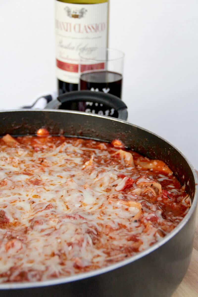 Quick Lasagna Recipe  Easy Skillet Lasagna Without Ricotta