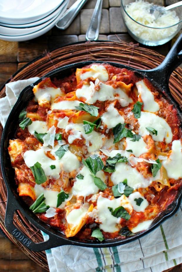 Quick Lasagna Recipe  Simply Scratch Easy Skillet Lasagna Simply Scratch